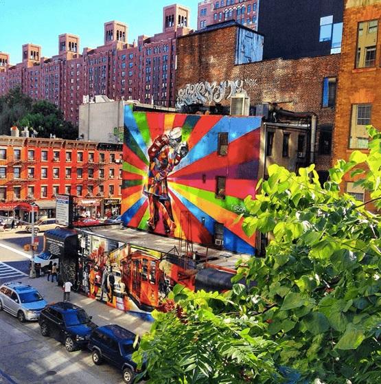 colorful billboard